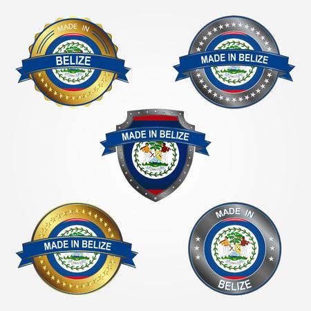 Design label of made in Belize
