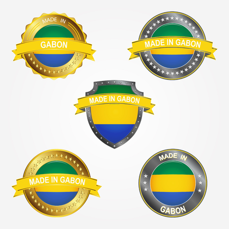Design label of made in Gabon