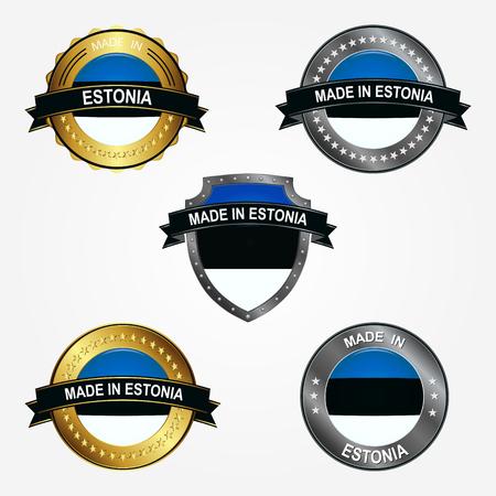 Design label of made in Estonia