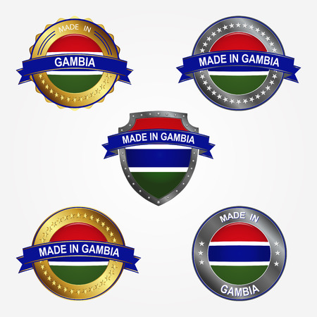 Design label of made in Gambia