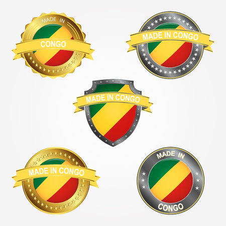 Design label of made in Congo