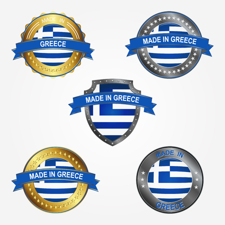 Design label of made in Greece