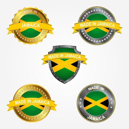 Design label of made in Jamaica