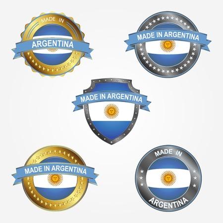 Design label of made in Argentina
