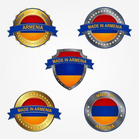 Design label of made in Armenia