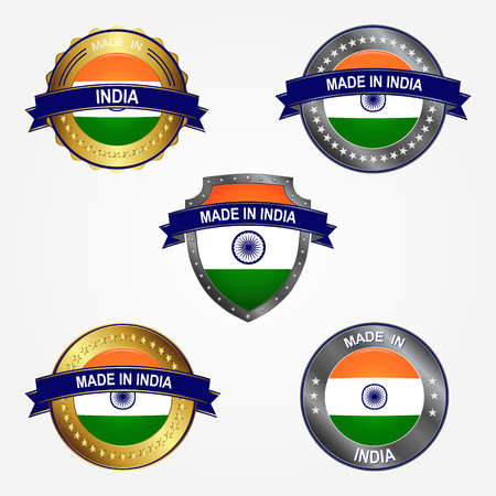 Design label of made in India 向量圖像