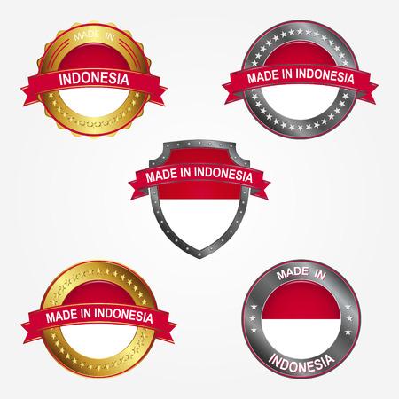 Design label of made in Indonesia