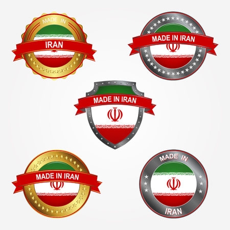 Design label of made in Iran