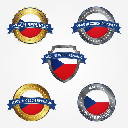 Design label of made in Czech Republic 向量圖像
