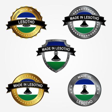 Design label of made in Lesotho