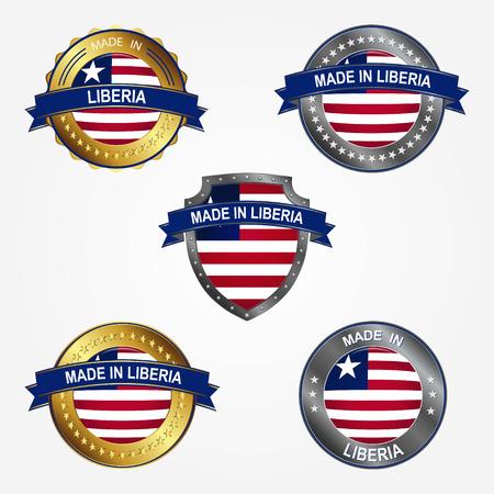 Design label of made in Liberia