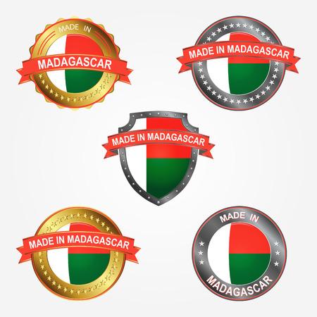 Design label of made in Madagascar 向量圖像
