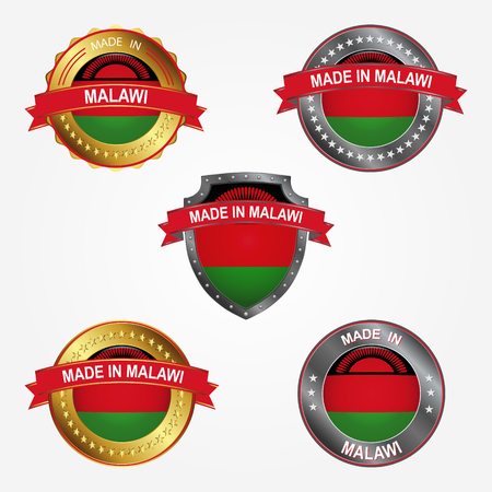 Design label of made in Malawi