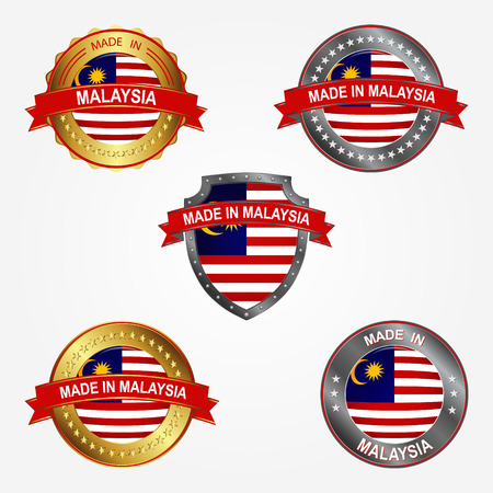 Design label of made in Malaysia