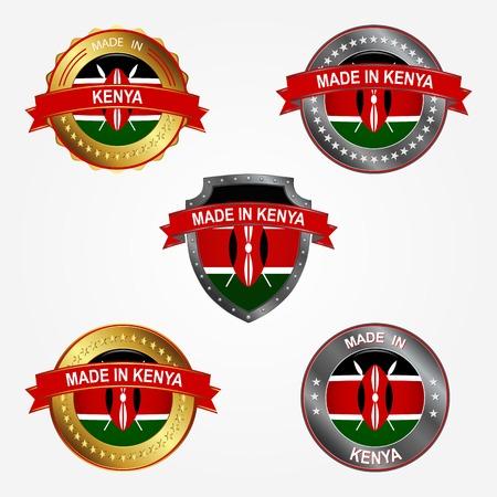 Design label of made in Kenya