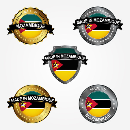 Design label of made in Mozambique