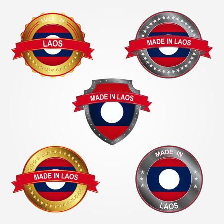 Design label of made in Laos