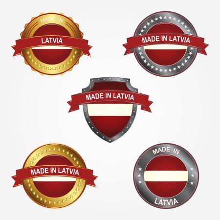 Design label of made in Latvia 向量圖像