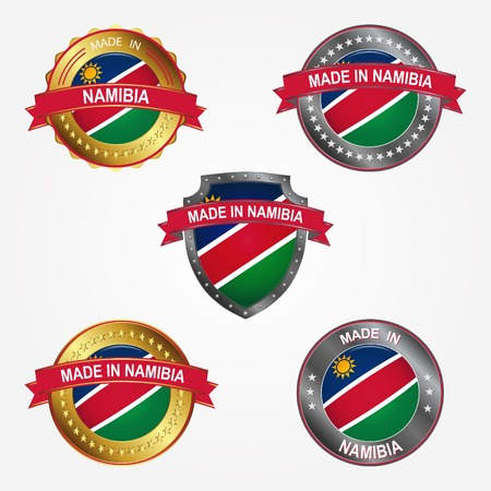 Design label of made in Namibia