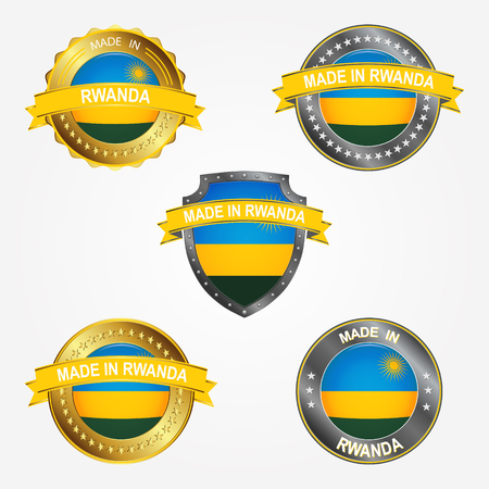 Design label of made in Rwanda