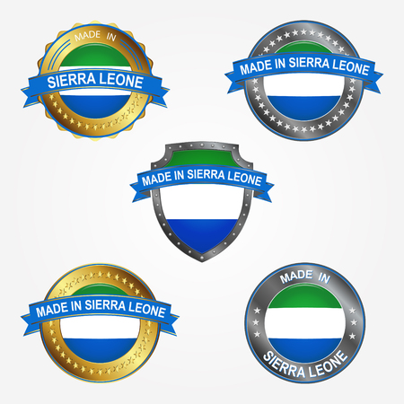 Design label of made in Sierra Leone