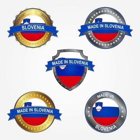 Design label of made in Slovenia