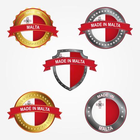Design label of made in Malta  イラスト・ベクター素材