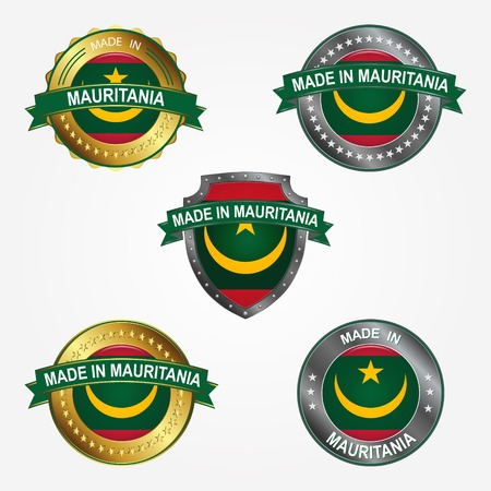 Design label of made in Mauritania  イラスト・ベクター素材