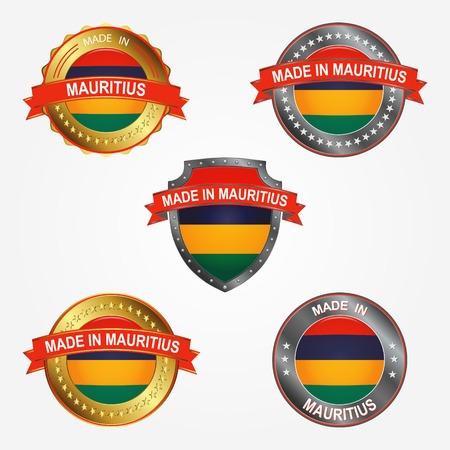 Design label of made in Mauritius