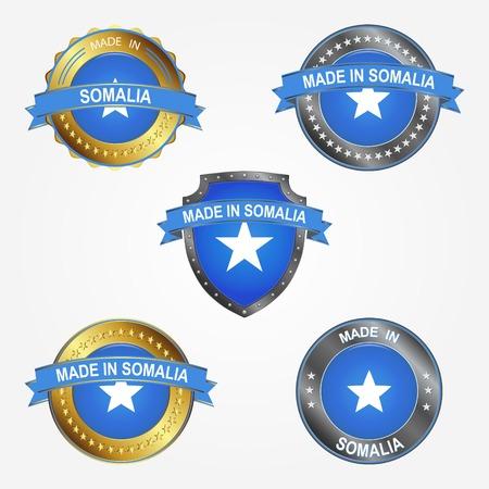Design label of made in Somalia