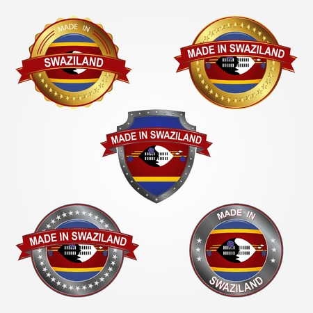 Design label of made in Swaziland