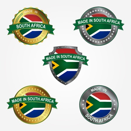 Design label of made in South Africa