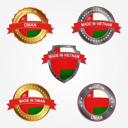 Design label of made in Oman  イラスト・ベクター素材