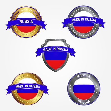 Design label of made in Russia