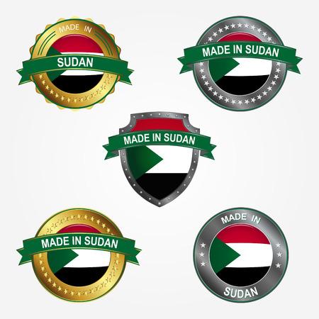 Design label of made in Sudan