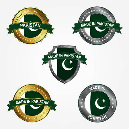 Design label of made in Pakistan