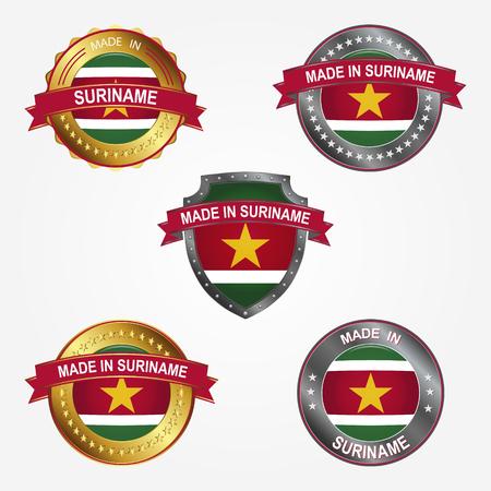 Design label of made in Suriname  イラスト・ベクター素材