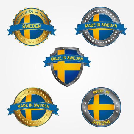 Design label of made in Sweden