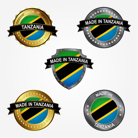 Design label of made in Tanzania  イラスト・ベクター素材