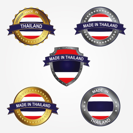 Design label of made in Thailand