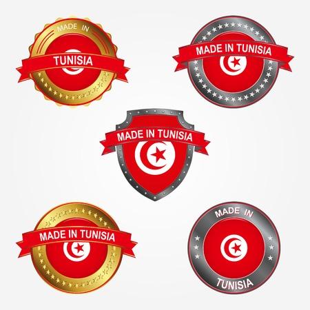 Design label of made in Tunisia