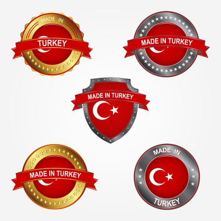 Design label of made in Turkey  イラスト・ベクター素材