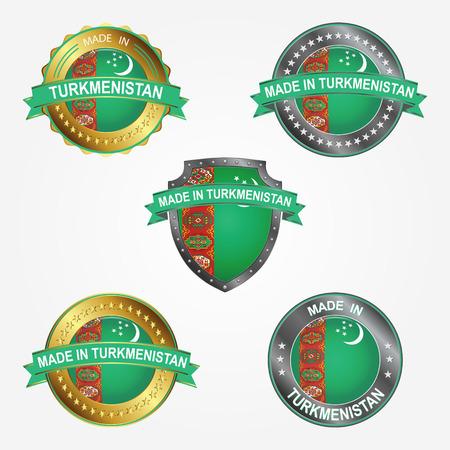 Design label of made in Turkmenistan
