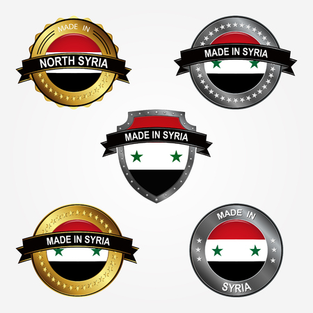 Design label of made in Syria  イラスト・ベクター素材