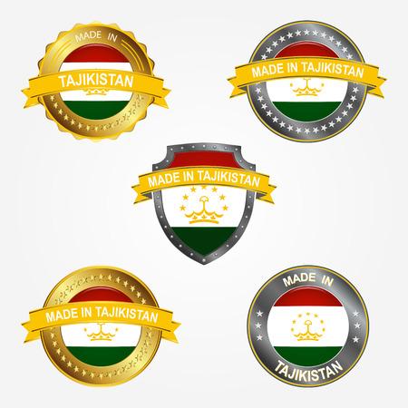 Design label of made in Tajikistan Çizim