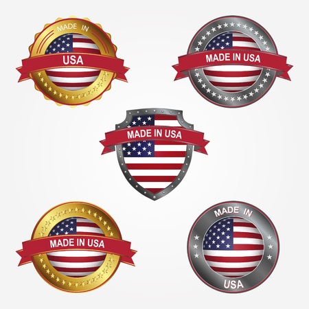 Design label of made in United States of America Çizim