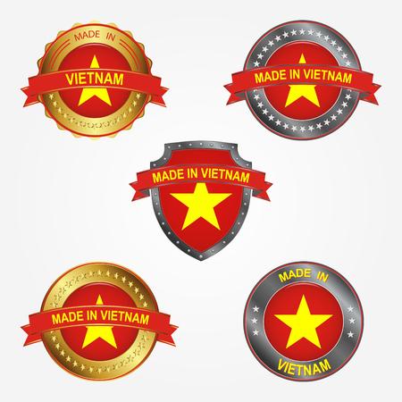 Design label of made in Vietnam  イラスト・ベクター素材
