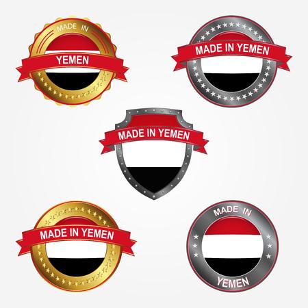 Design label of made in Yemen