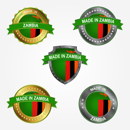 Design label of made in Zambia