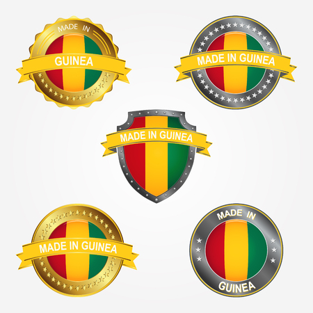 Design label of made in Guinea